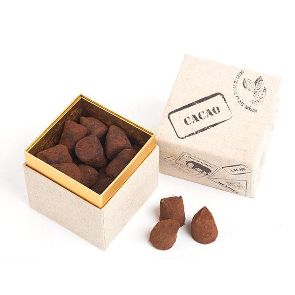 Truffes boite cube cacao