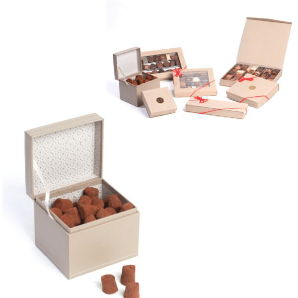 Collection taupe boite cube lesdelicesdelaclosiere