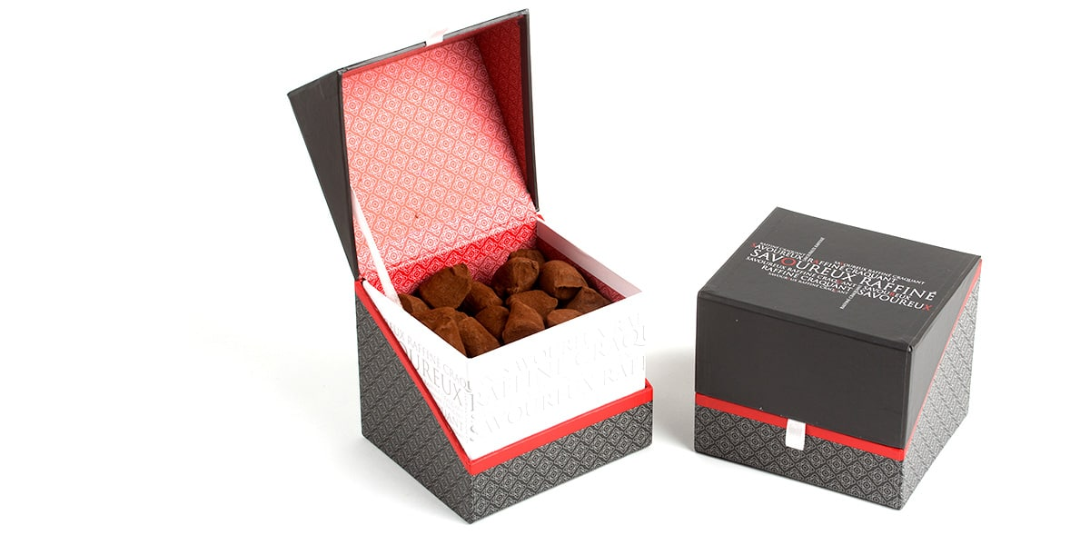 Truffes boite cube savoureuse 3
